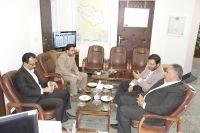 نشست ریاست دانشگاه با فرماندار محترم شهرستان درمیان (اسدیه)