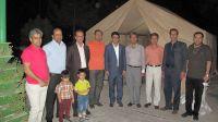 مراسم جشن نیمه شعبان در محل بوستان شهدای گمنام با حضور مسئولین دانشگاه و غبارروبی و مولودی خوانی و ایستگاه صلواتی